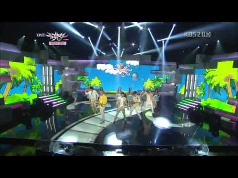 120629 B1A4 & A Pink - Baby Good Night + Summer Story + Twist King + Ocean + Hush (Special Stage)