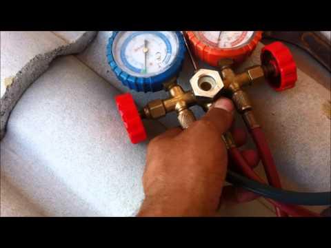 Dando Carga De Gás Ar Condicionado Split Inverter 410A