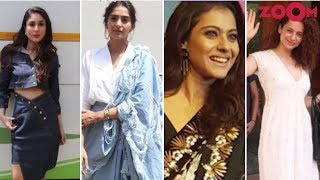 Kareena Kapoor Khan, Sonam Kapoor, Kajol And Kangana Ranaut Make Their Stylish Appearances - ZOOMDEKHO