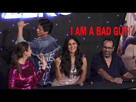 BAD Guy Shahrukh khan Reporter Masti & Anushka character Reveal at Zero Movie trailer launch