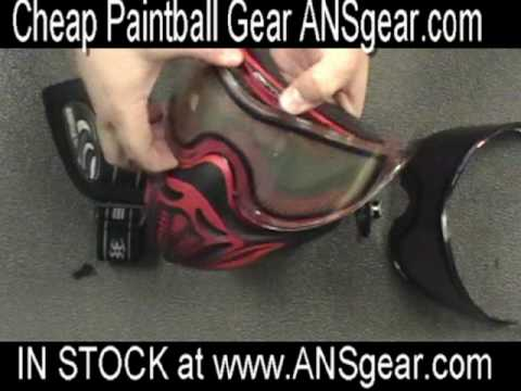 How to change the Empire Event Paintball Mask Lens 2008 or 2009 Goggle