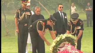 31 Oct, 2014 - India pays homage to former PM Indira Gandhi on her death anniversary - ANIINDIAFILE