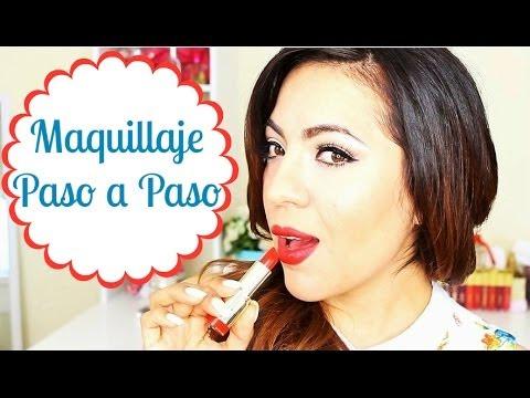 Maquillaje paso a paso (delineado de ojos-labios rojos) con Milani Cosmetics ♥BeautybyNena