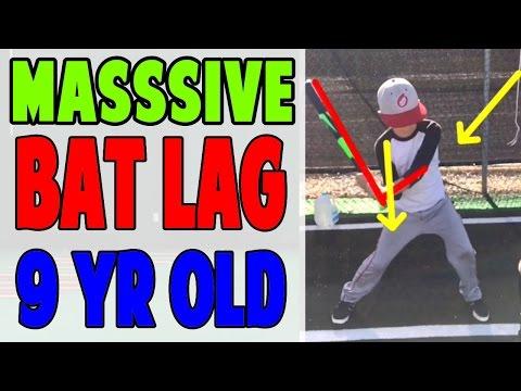 9 Year Old PSB Student Learns Massive Bat Lag (Pro Speed Baseball)