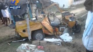 Auto Collides With A Lorry In Anantapur District : 6 Persons Died - ETV2INDIA