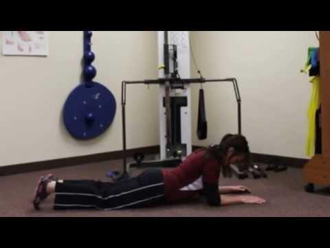 Plank Progression (Knees bent, prone plank, side plank)