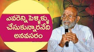 ఎవరెన్ని పెళ్ళిళ్ళు చేసుకున్నారనేది అనవసరం: కె విశ్వనాధ్ || K Viswanath 88th birthday celebrations - IGTELUGU
