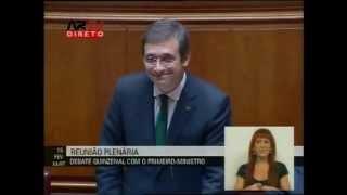 Grândola Vila Morena manda calar Passos Coelho na Assembleia da República