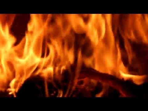 4 hours fireplace HD video romatic relaxing  fire with natural sound