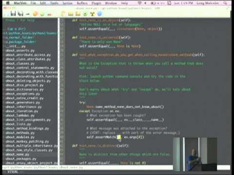 Image from Learn Python TDD Style with Python Koans