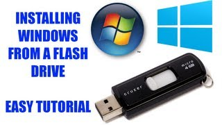 How to Install Windows From a Flash Drive [Windows 7/8 Tutorial]