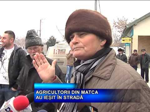 AGRICULTORII DIN MATCA AU IESIT IN STRADA