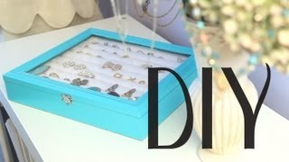 anneorshine – DIY Jewelry Display Box for Rings & Earrings {Tiffany & Co inspired Theme}