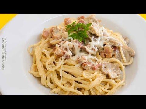Receita de Esparguete Carbonara