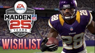Madden 25 (14) Wishlist Introduction (Part 1) - Infinity Engine/Connected Careers & Madden 13 Review