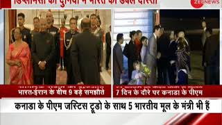 Two High Profile visit: Iran President Hassan Rouhani and Canada PM Justin Trudeau both in India - ZEENEWS