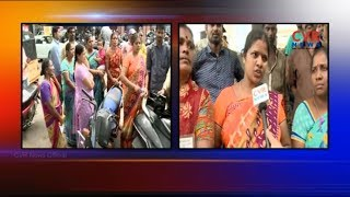 GHMC Footpath Business Victims Protest against TS Government | CVR News - CVRNEWSOFFICIAL