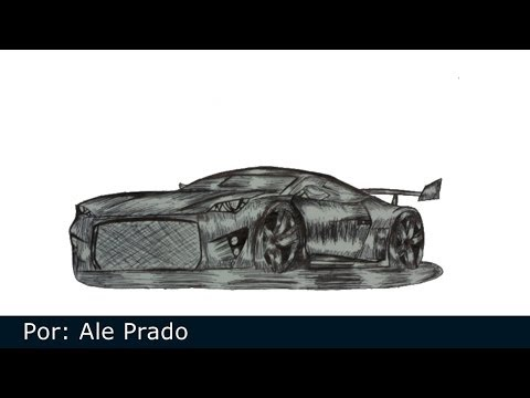 Como desenhar carros - Speed drawing (Car)