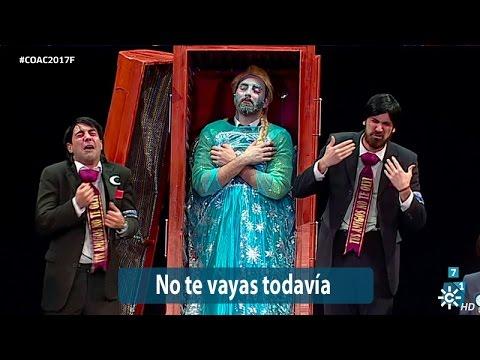 Sesión de Final, la agrupación No te vayas todavía actúa hoy en la modalidad de Chirigotas.