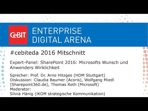 #cebiteda16: Expert-Panel zu Anwendung von SharePoint 2016