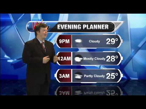 Saturday, March 28th Evening Forecast