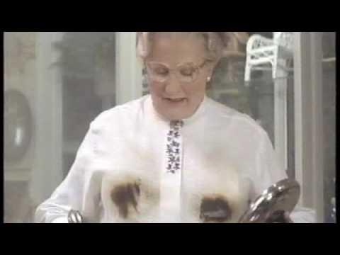 """""""Mrs Doubtfire"""" to jeden z najbardziej znanych filmów pokazujących, jak mężczyzna opiekuje się dziecmi. Z przymrużeniem oka!"""