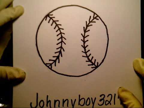 How To Draw A Baseball MLB College Easy & Simple Fun 2 Draw bat player field new