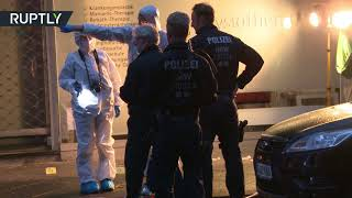 Forensic analysts explore scene after man killed in knife attack in Wuppertal, Germany - RUSSIATODAY