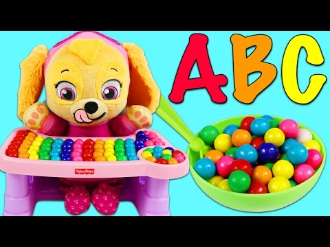 LEARN ABC Song and Colors with Paw Patrol Baby Skye Part 1 Sing Alphabet Song Kids Nursery Rhyme!