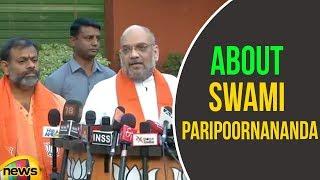 Amit Shahs About Swami Paripoornananda | BJP Latest News Updates | Mango News - MANGONEWS
