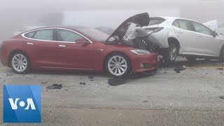 Several Injured in Multi-Car Pileup in California - VOAVIDEO