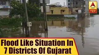 TOP NEWS: Flood like situation in 7 districts of Gujarat, death toll reaches 28 - ABPNEWSTV