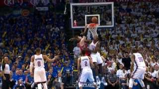 Serge Ibaka Rejects Omer Asik's Dunk Attempt