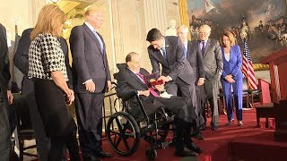 President Donald Trump attends Congressional Gold Medal ceremony for former Sen. Bob Dole | ABC News - ABCNEWS