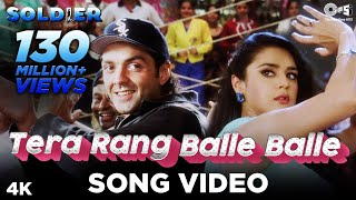 Tera Rang Balle Balle Song Video - Soldier I Bobby Deol & Preity Zinta I Sonu & Jaspinder - TIPSMUSIC