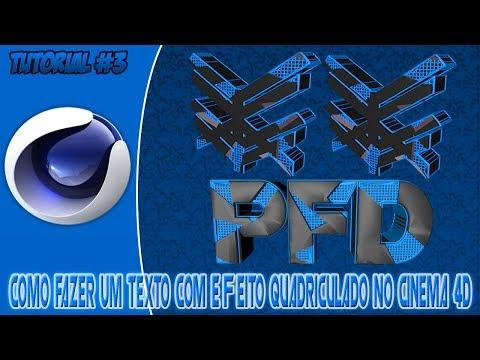 Tutorial #3 • Como Fazer Um Texto Com Efeito Quadriculado No Cinema 4D • By PFD