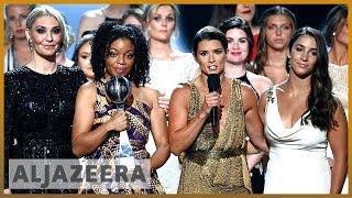 🇺🇸 'Sister Survivors' of US gymnastics sexual abuse honoured in ESPY  | Al Jazeera English - ALJAZEERAENGLISH