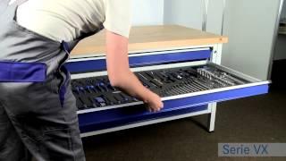 Werkbank schubladen selber bauen  ANKE Werkbänke Serie VX - mit XXL Schubladen - YouTube