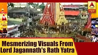 Mesmerizing visuals from lord Jagannath's Rath Yatra in Puri, Ahemdabad and Pandharpur - ABPNEWSTV