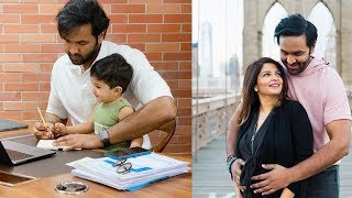 Machu Vishnu With His Son AvramBhakta At His Office | Manchu Vishnu Family - RAJSHRITELUGU