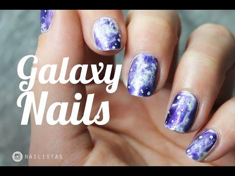 Galaxy Nails paso a paso sin esponja | Nail art fácil y rápido
