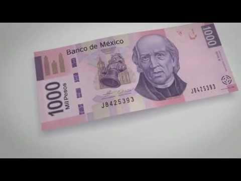 Billete de 1000 pesos (tipo F) - elementos de seguridad