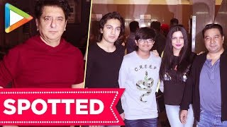SPOTTED: Sajid Nadiadwala with family and Ahmed Khan - HUNGAMA