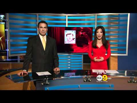 Sharon Tay 2011/09/21 10PM KCAL9 HD; Red dress