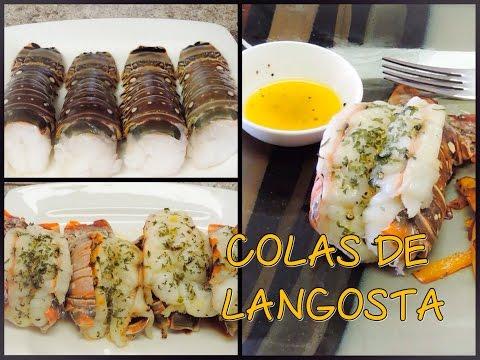 Colas de Langosta Horneadas (Primer video de cocinar)