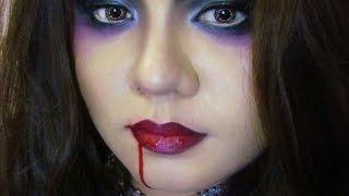 Espectacular maquillaje vampiro para halloween