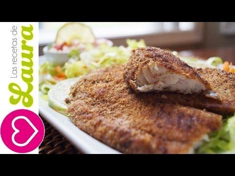 Pescado Empanizado ¡Sin aceite! y sin horno Recetas Saludables sin grasa