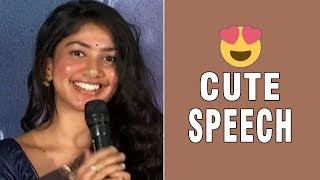 Sai Pallavi Cute Speech @ Kanam Pre Release Event | Naga Shaurya | TFPC - TFPC