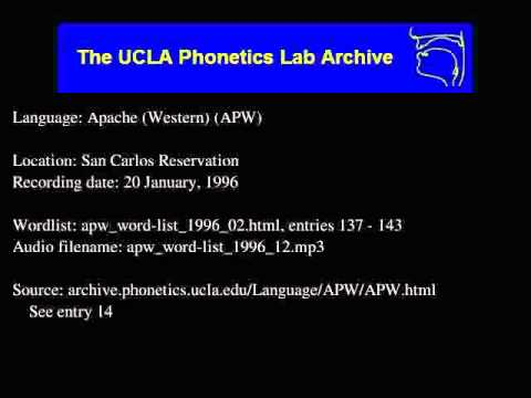Western Apache audio: apw_word-list_1996_12