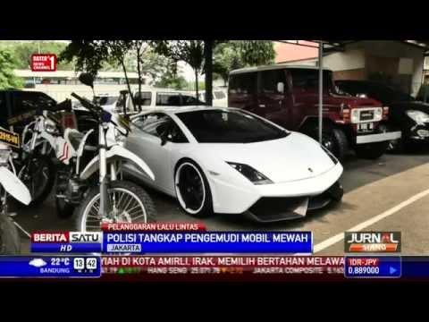 Sopir Ugal-Ugalan dengan Lamborghini Ditangkap Polisi